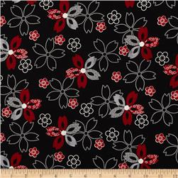 Essentials 10 Flower Black
