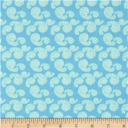 Merry Go Round Paisley Powder Blue