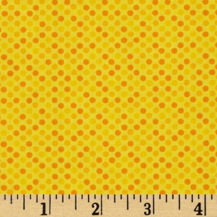 Moda Giggles Giggly Dots Bang Yellow