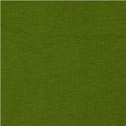 Basic Cotton Baby Rib Knit Solid Fern Green