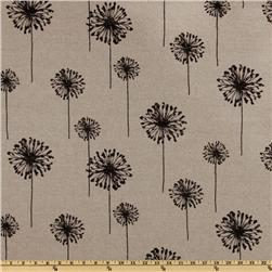 Premier Prints Dandelion Black/Denton Fabric