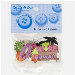 Dress It Up Embellishment Buttons  Hawaii