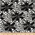 Floral Crochet Lace Black