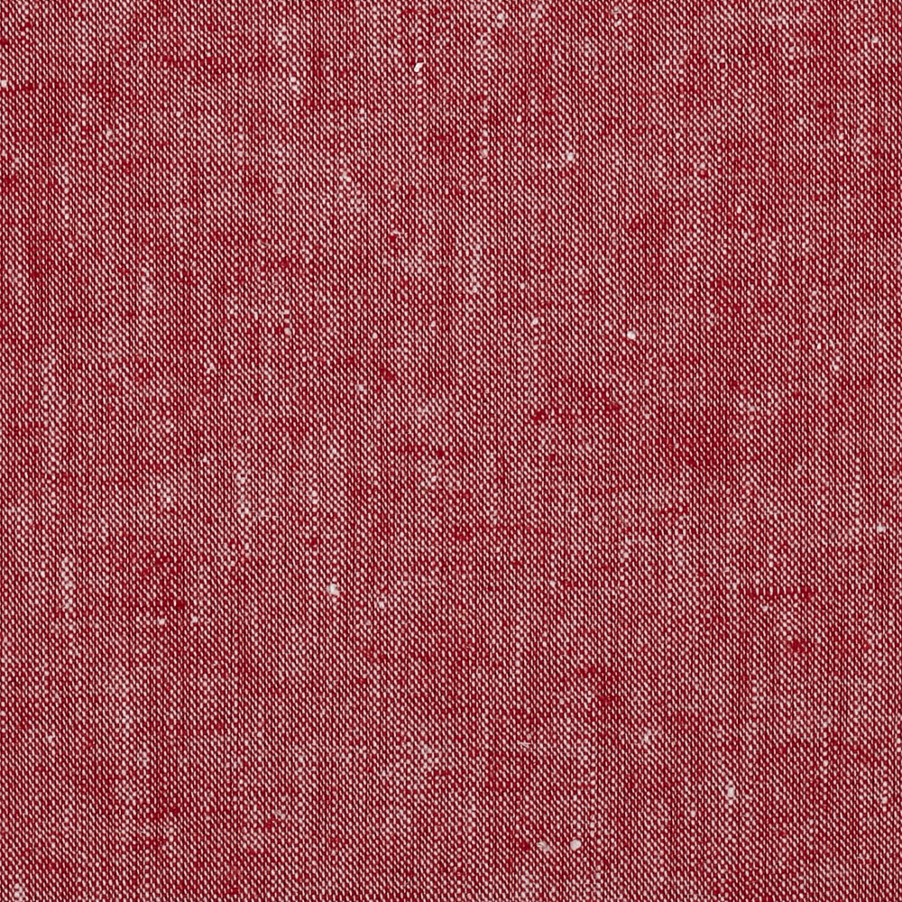 Kaufman Chambray Stretch Linen Red