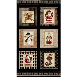 Holly Jolly Christmas Blocks Black