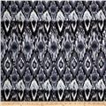 Poly Spandex ITY Jersey Knit Abstract Ikat Black/White/Grey