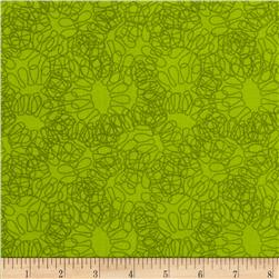 Twilium Abstract Floral Green