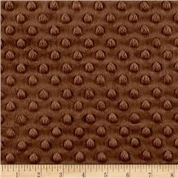 Michael Miller Minky Solid Dot Brown