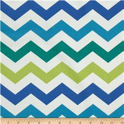 Bartow Indoor/Outdoor Chevron Blue/Green