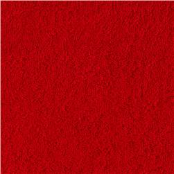 Cotton Blend Stretch Terry Red