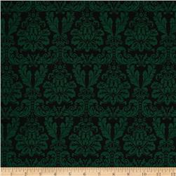 Joyeux Noel Large Damask Green