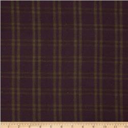 Primo Plaids V Flannel Plaid Grid Olive Fabric