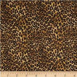 Timeless Treasures Wild World Flannel Leopard