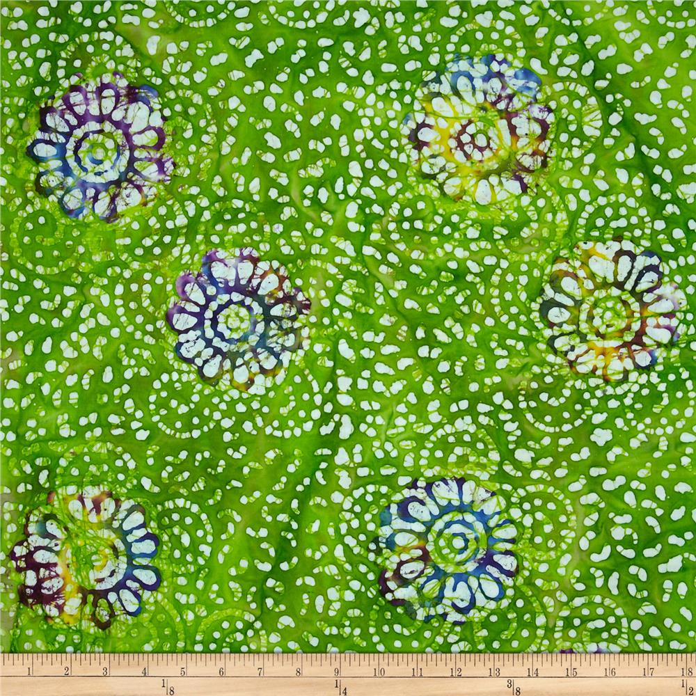 Indian Batiks Flower Lime