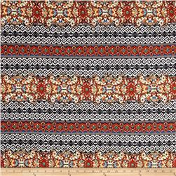Ethnic ITY Prints Black/Red/Royal