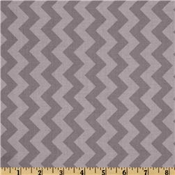 Riley Blake Chevron Small Tonal Grey Fabric