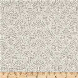 Moda Bee Inspired Monatone Damask Dove Grey