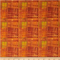 Lush Harvest Brush Strokes Orange/Yellow Fabric