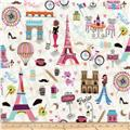 Timeless Treasures You, Me, Out Paris Toss Multi