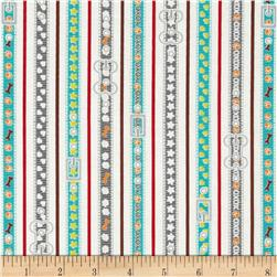 Dog Park Dog Leash Turquoise Fabric