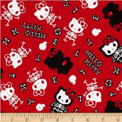 Hello Kitty Skeletons Red