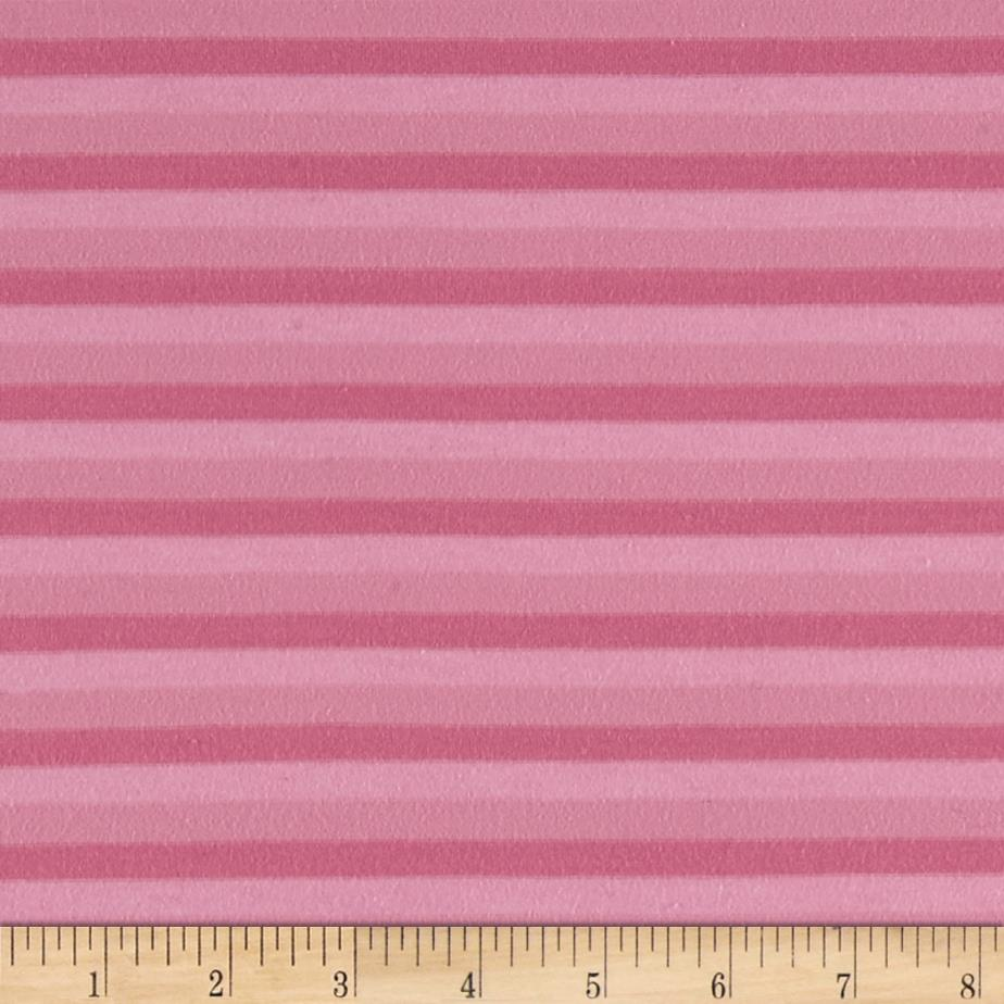 Yarn Dyed Striped Jersey Knit Hot Pink/Light Pink
