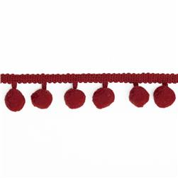 Riley Blake 1/2'' Regular Pom Pom Trim Red