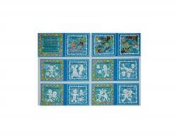 Poseidon's Playground Color me book Panel Aqua