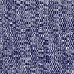 Kaufman Chambray Stretch Linen Indigo Fabric