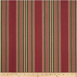 Waverly Sun N Shade Sweetwater Stripe Scarlet Fabric