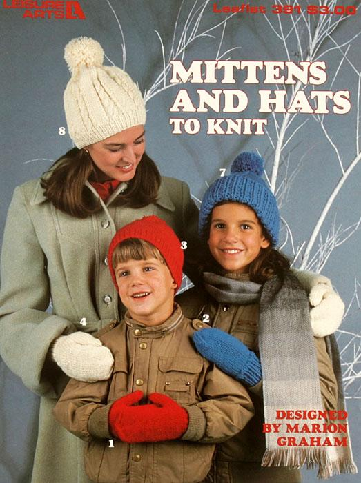 "Leisure Arts ""Hats And Mittens To Knit"" Booklet"