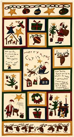 Moda Dear Santa Flannel Panel Snow
