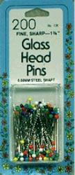 Colored Glasshead Pins Sz 22
