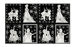 "Disney Frozen Book Pages 24"" Panel Black"