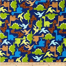 Urban Zoology Dinosaurs Navy Fabric