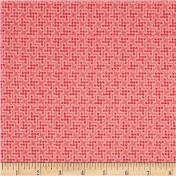 Penny Rose Shabby Strawberry Houndstooth Pink