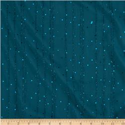 Sequin Crepe Chiffon Teal Blue