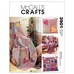 McCall's Rag Throw & Pillow Pattern M3901 Size OSZ