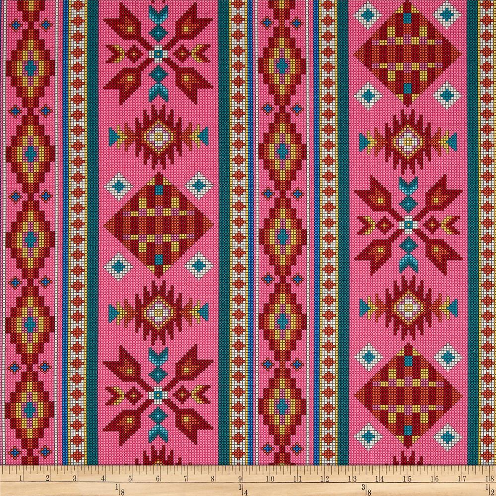 Tucson Beaded Stripe Pink