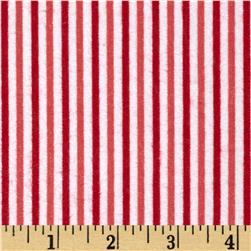 Riley Blake Merry Matryoska Flannel Stripe Red