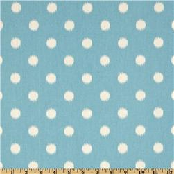 Premier Prints Ikat Dots Arctic Blue/Natural Fabric