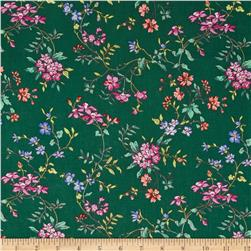 Calico Collection Floral Green/Pink/Blue Fabric