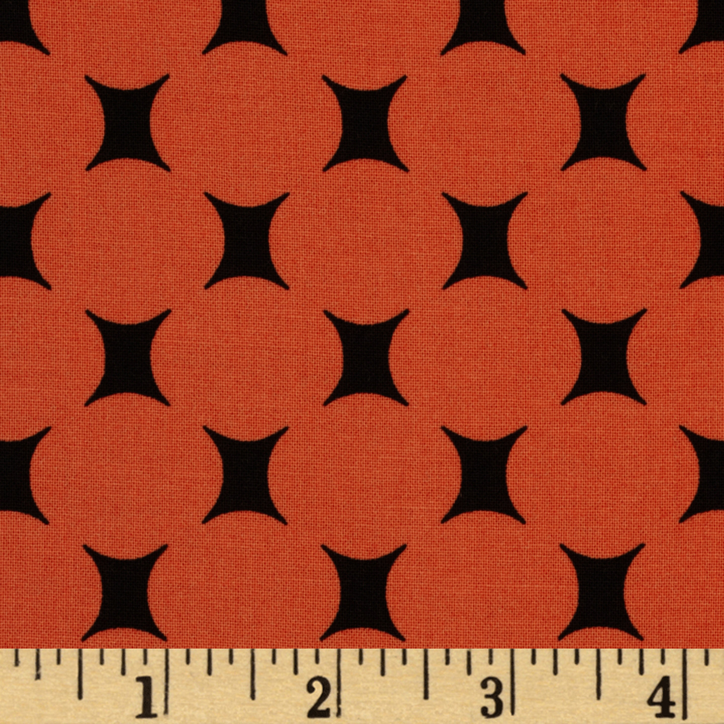 Michael Miller Mid-Century Modern Atomic Dot Orange