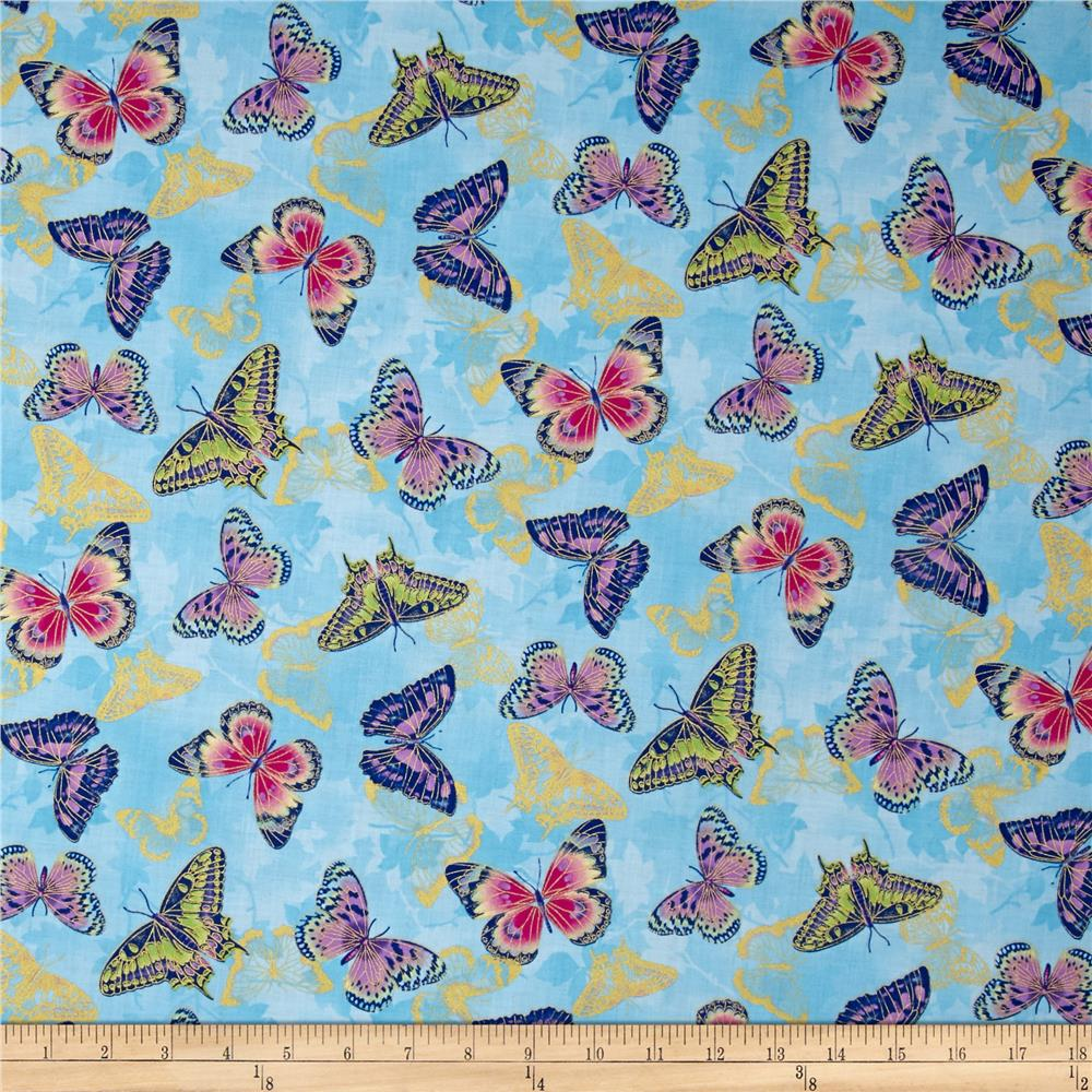 Flights Of Fancy Butterfly Blue