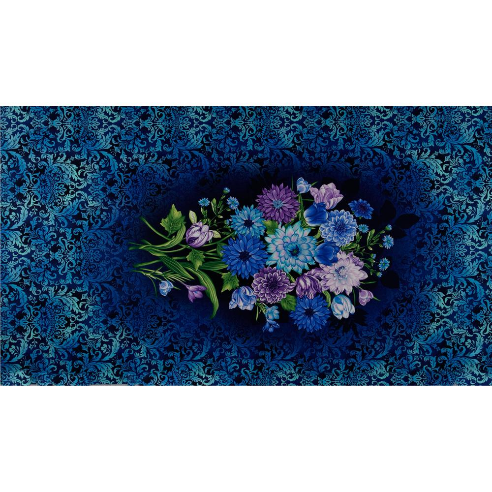 Botanica II Floral Panel Blue