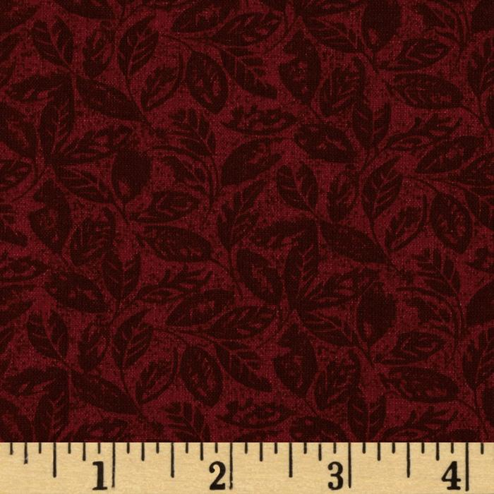 Leaves Tonal Maroon