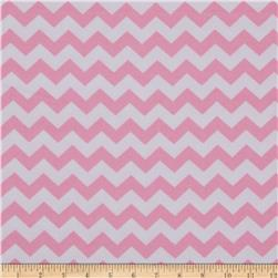 Dreamland Flannel Chevron Pink Carnation Fabric
