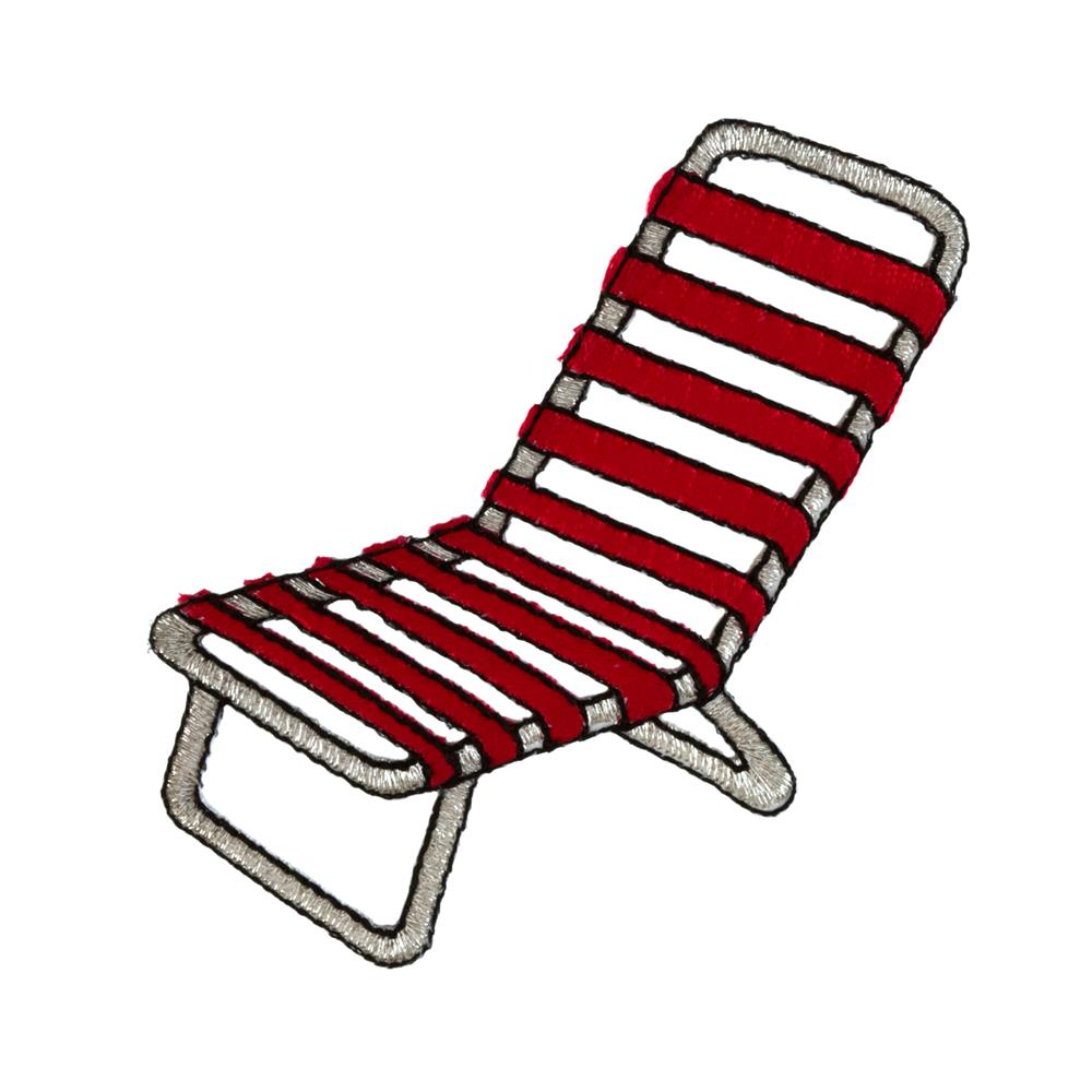 Beach Chair Applique Red