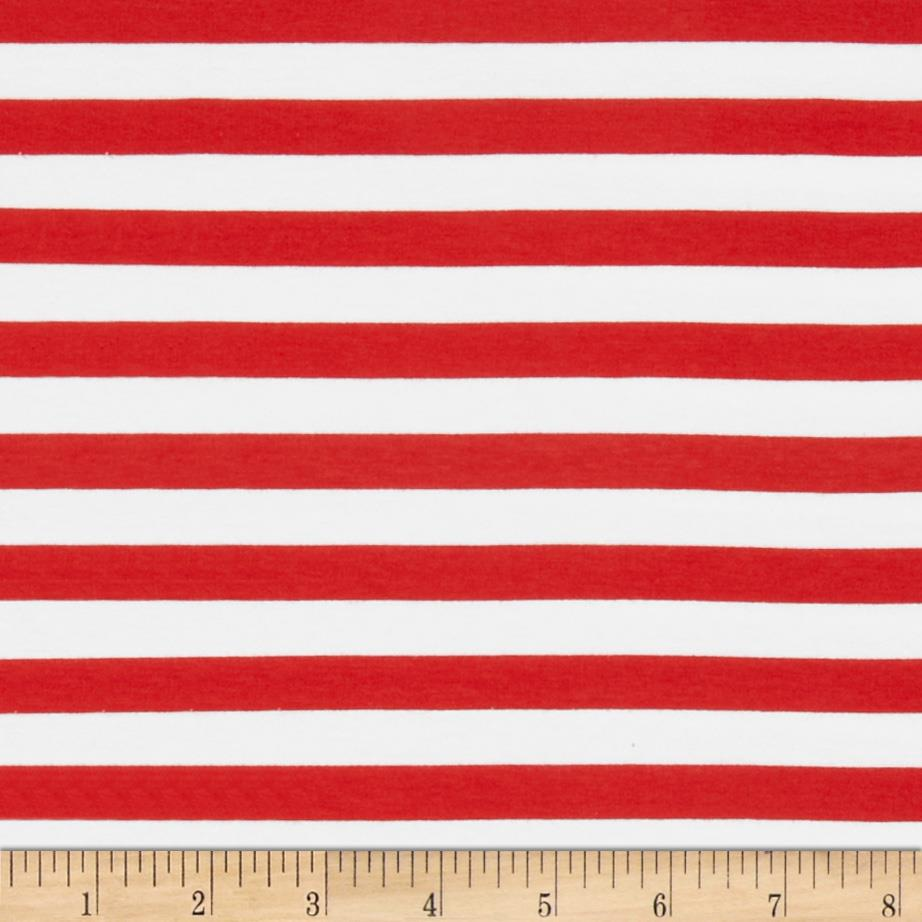 "Riley Blake Knit 1/2"" Stripes Red"