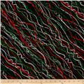 Holiday Cheer Metallic Streamer Black/Green/Red